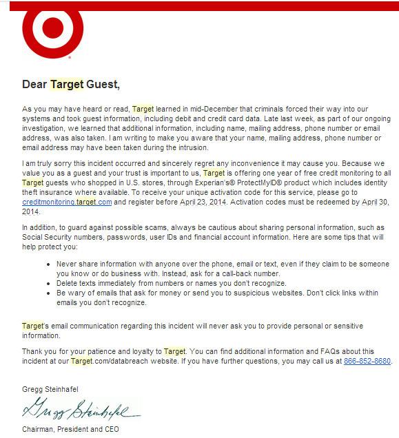 Target Robo de Tarjetas